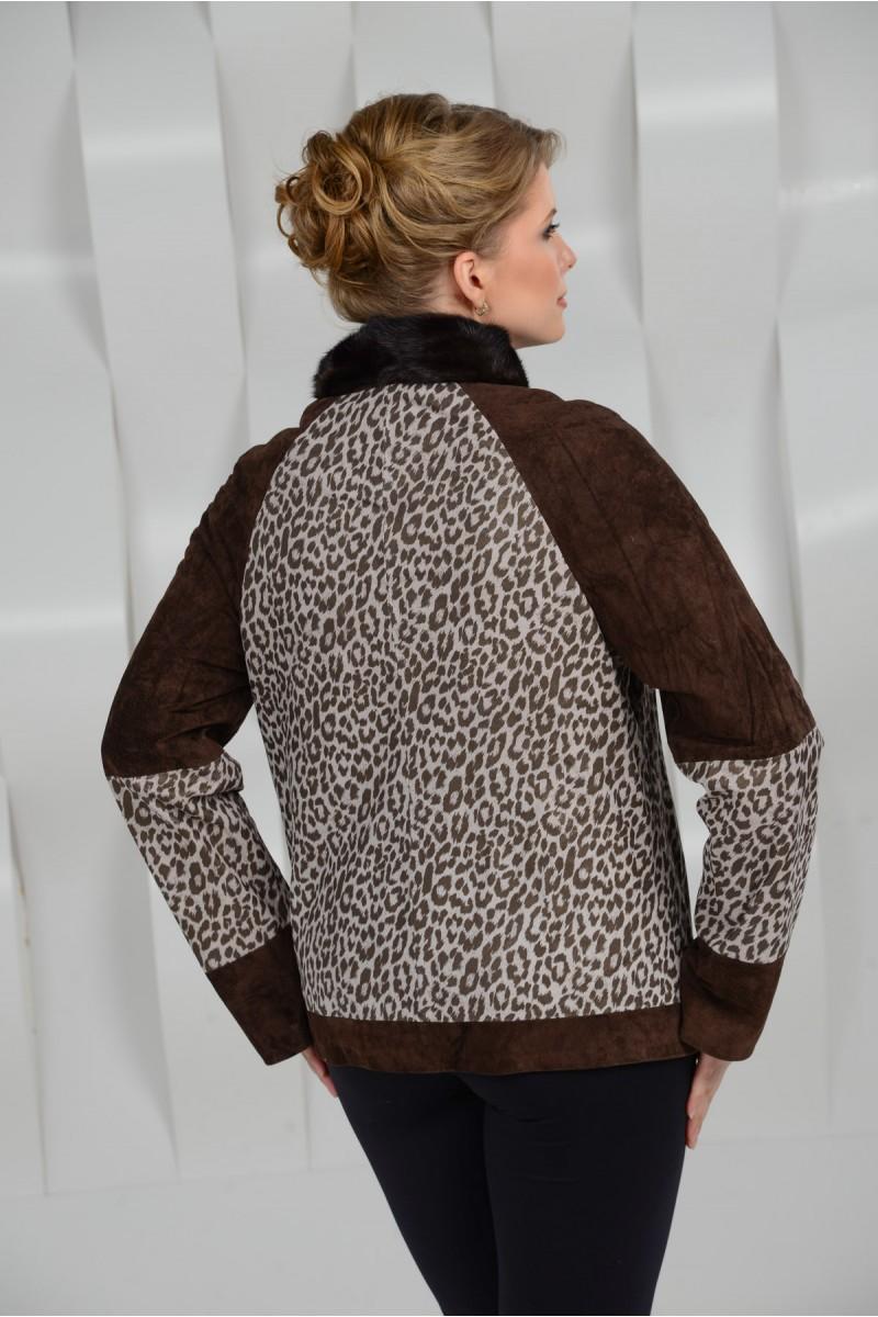 Куртка на большие размеры из натуральной кожи