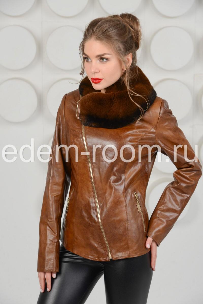 Куртка из экокожи на молнии