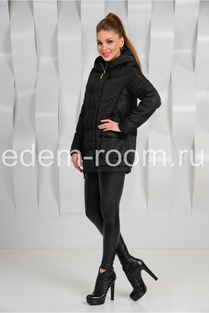Чёрная куртка с капюшоном - 2015