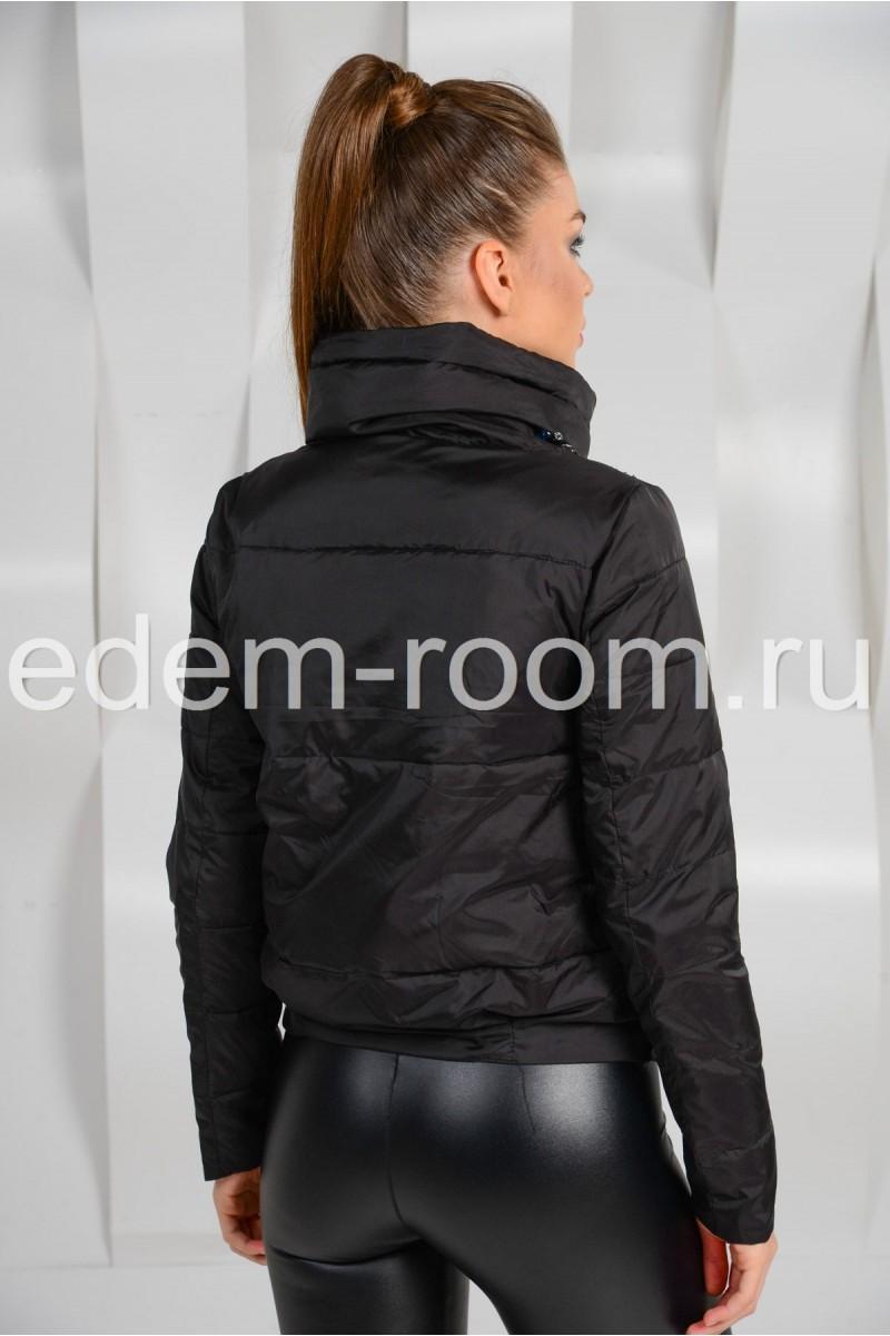 Укороченная чёрная куртка -2015
