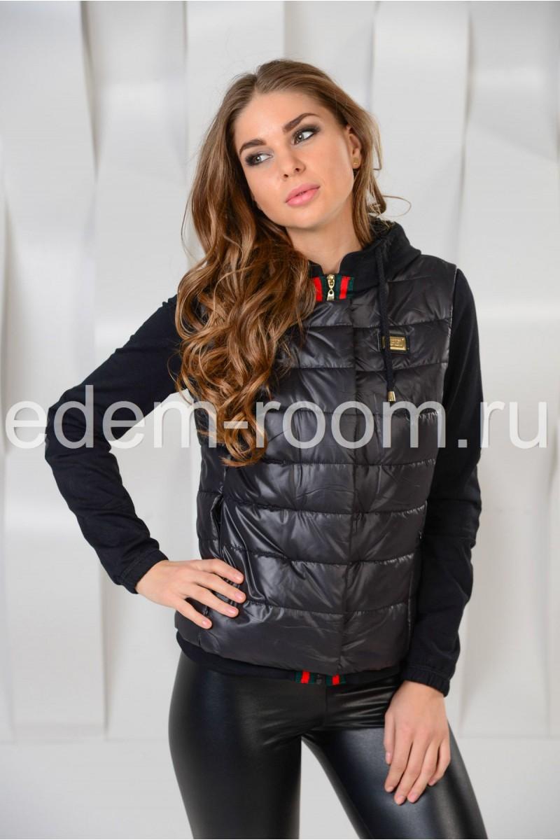 Укороченная куртка на резинке