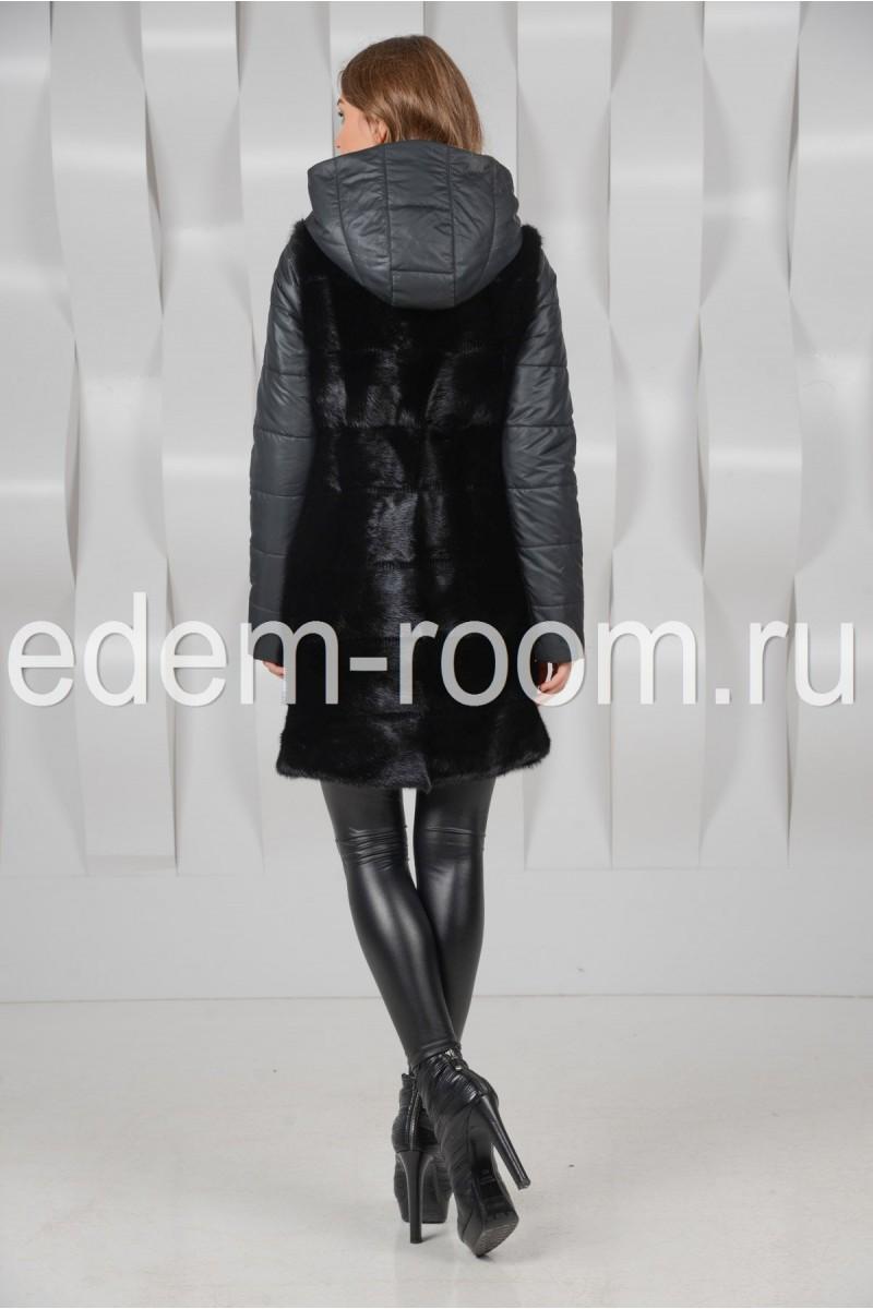 Пальто - жилетка из норки (трансформер)