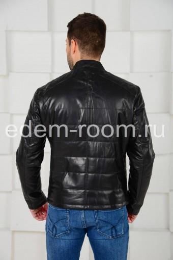 Мужская кожаная куртка на межсезонье