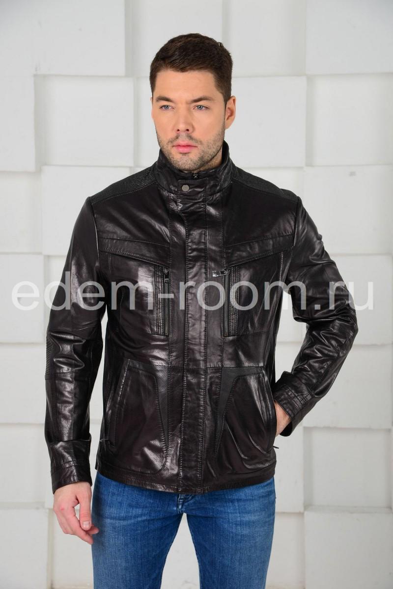 Осенне - весенняя кожаная куртка для мужчин