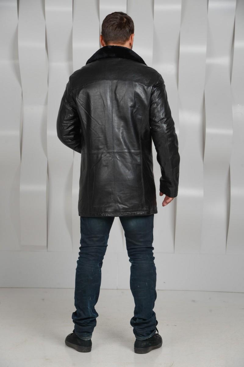 Кожаная куртка-дубленка
