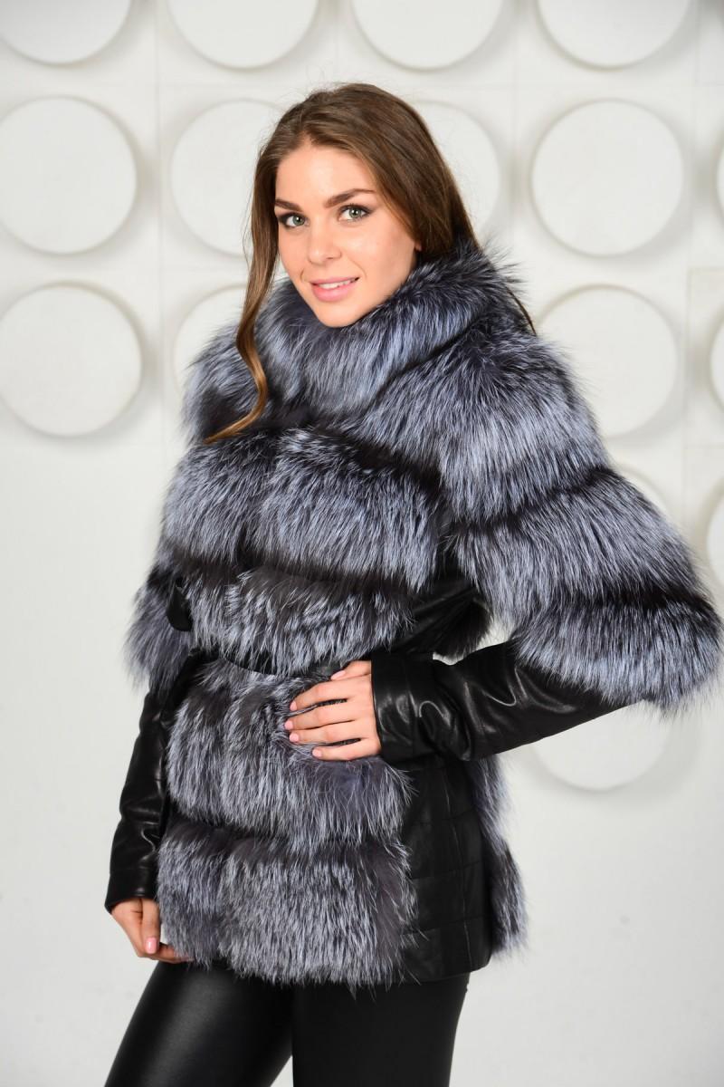 Меховая куртка из чернобурки