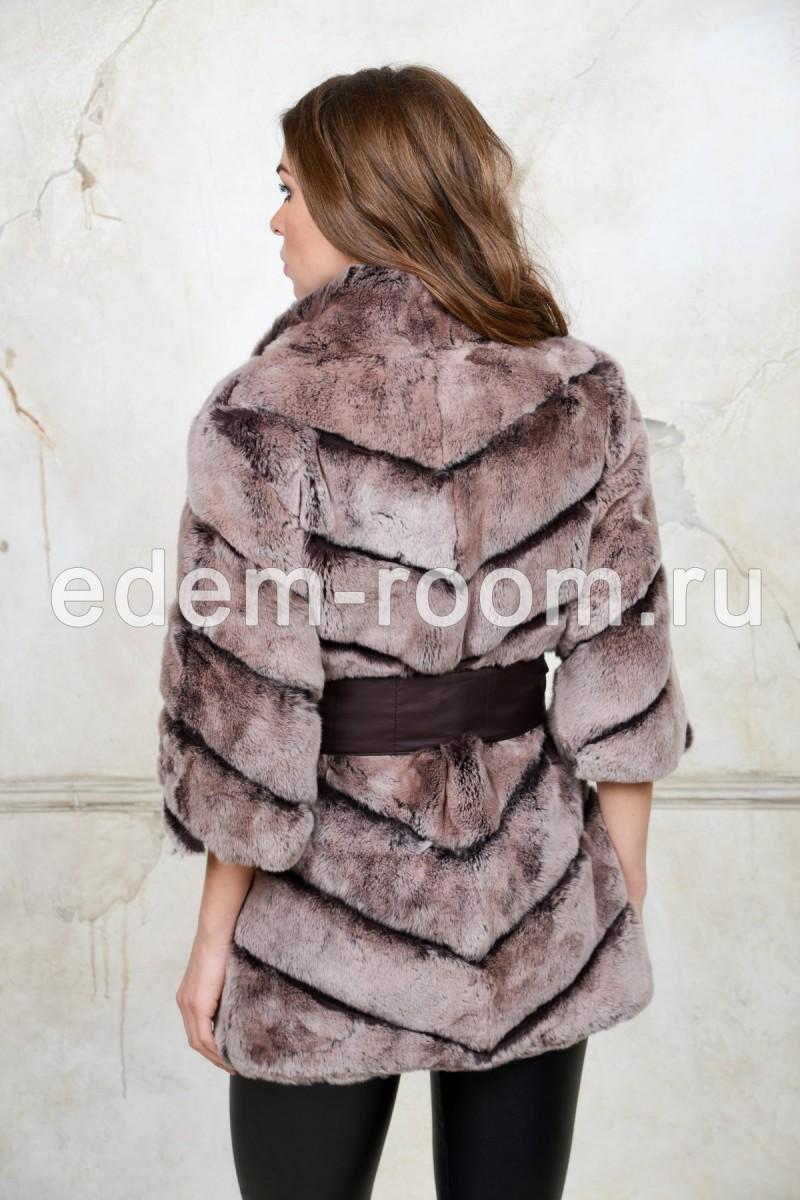 Куртка из меха  кролика Рекс