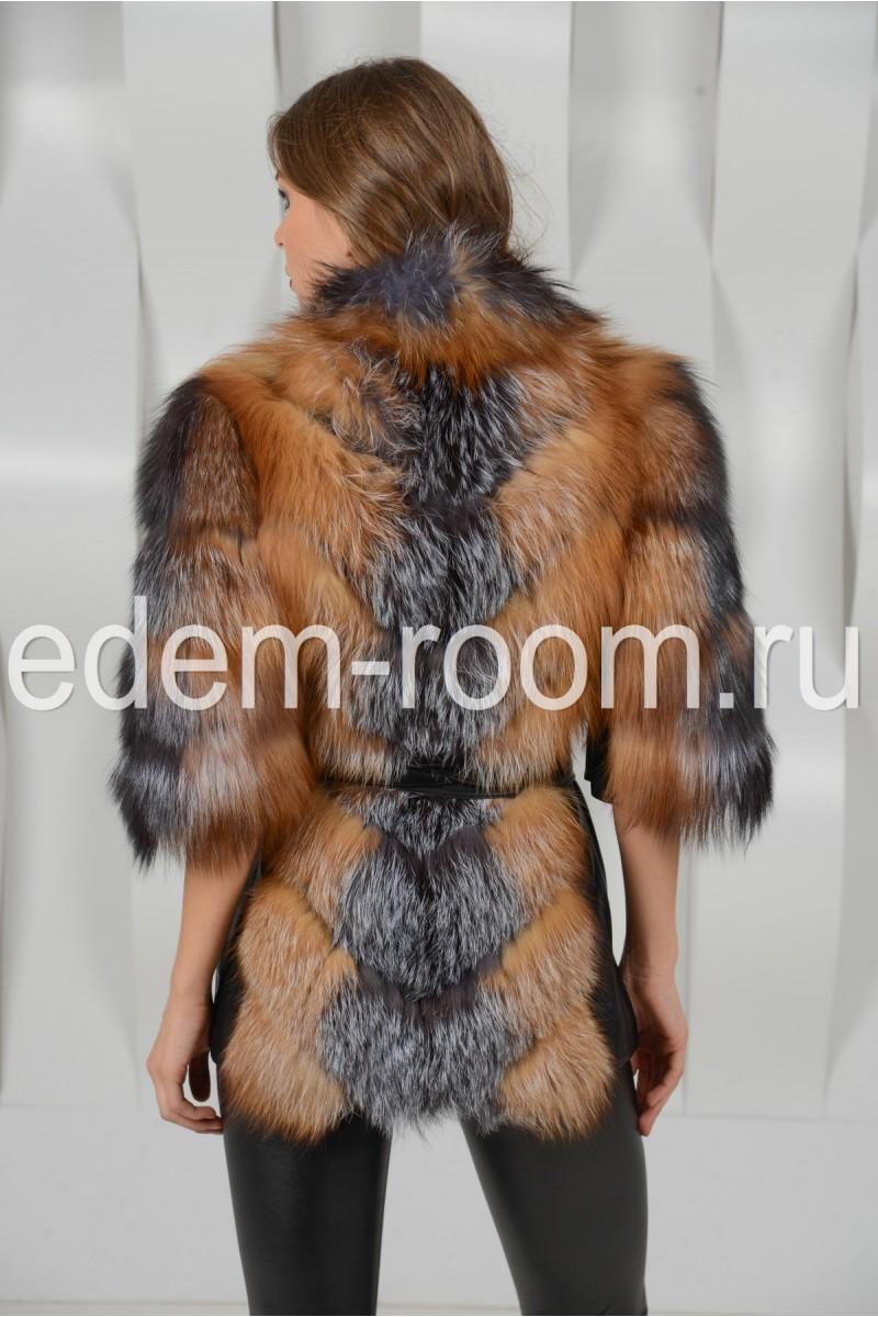 Меховая куртка из меха лисы и чернобурки