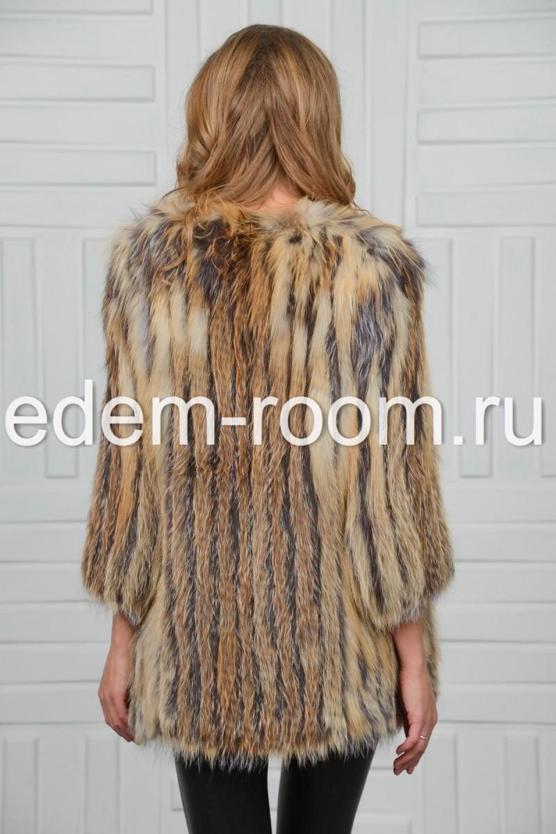Меховая куртка из лисы