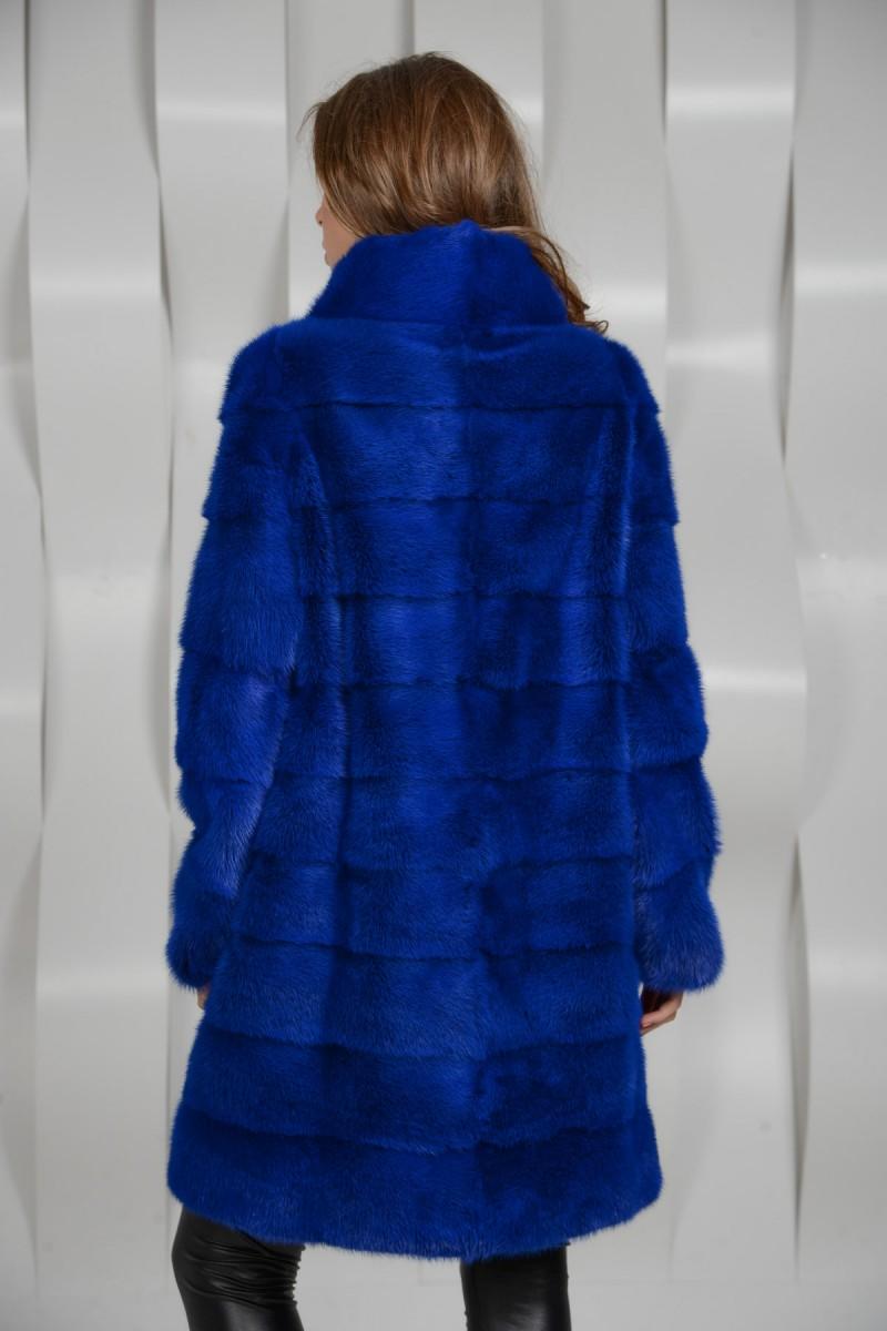 Синяя норковая шуба - поперечка