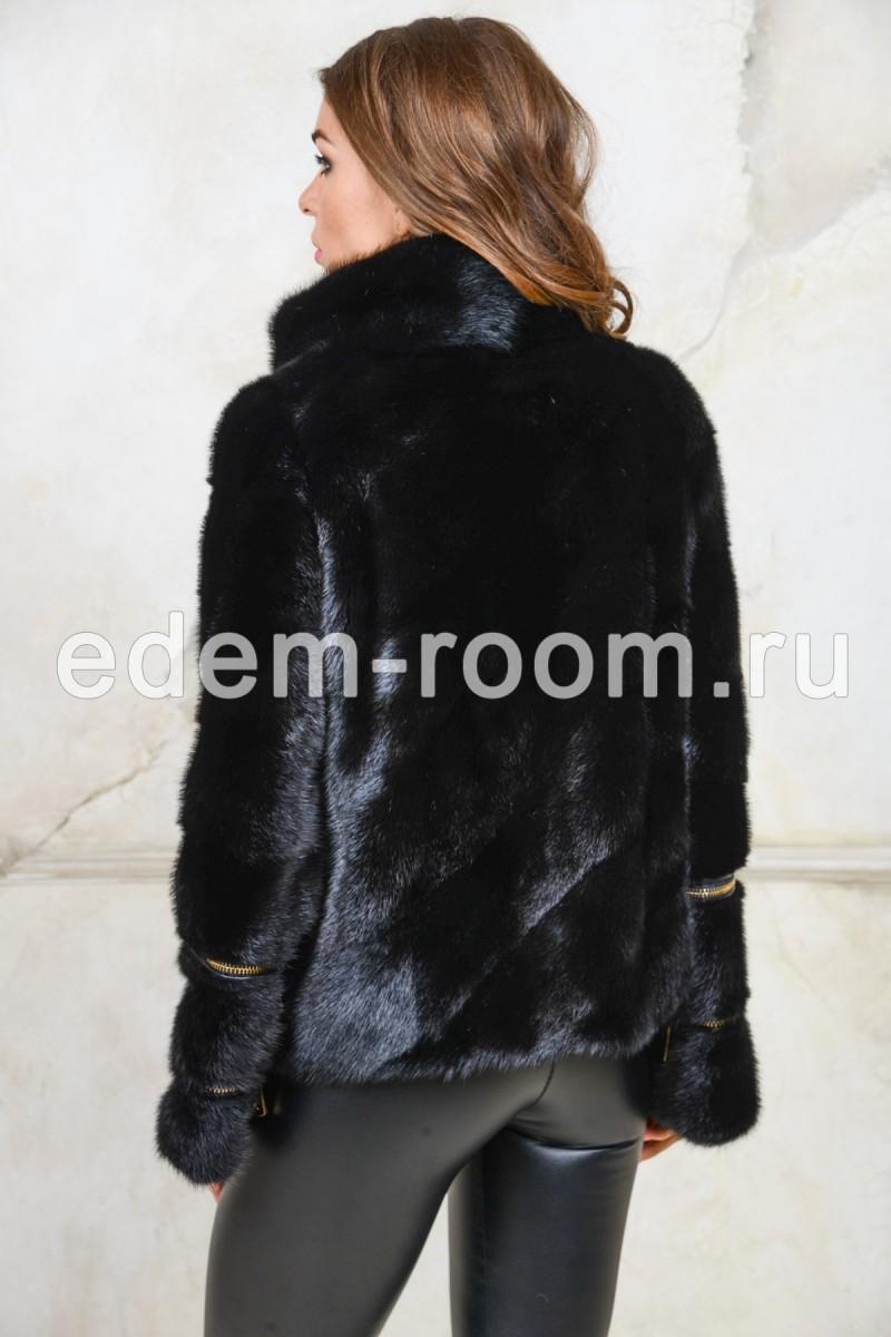 Норковая куртка на молнии