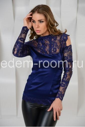 Шёлковая кружевная  блузка