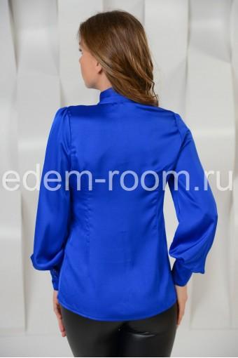 Шёлковая блузка с баской