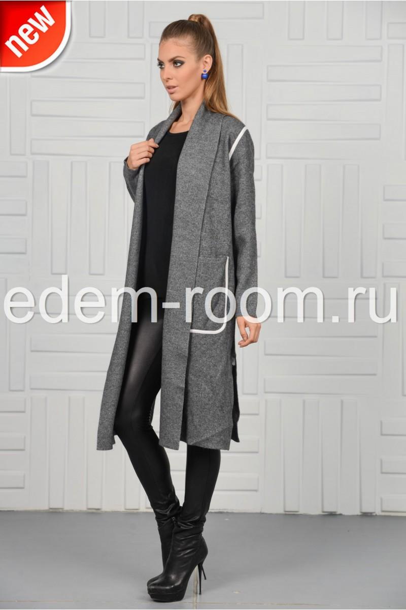Удлинённое пальто - кардиган