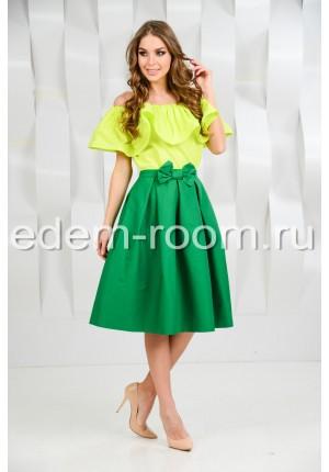 Хлопковый костюм юбка + блузка