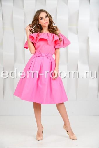 Хлопковый Костюм - юбка + блузка