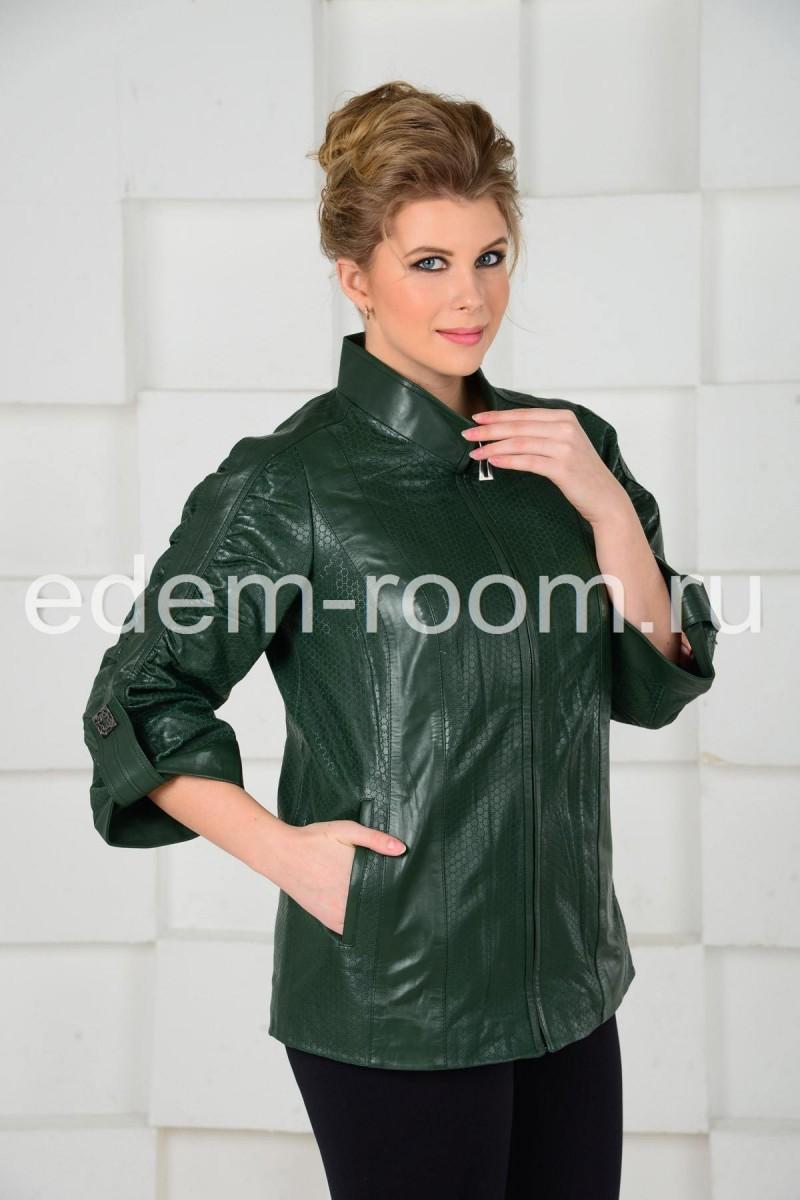 Зелёная куртка для больших размеров