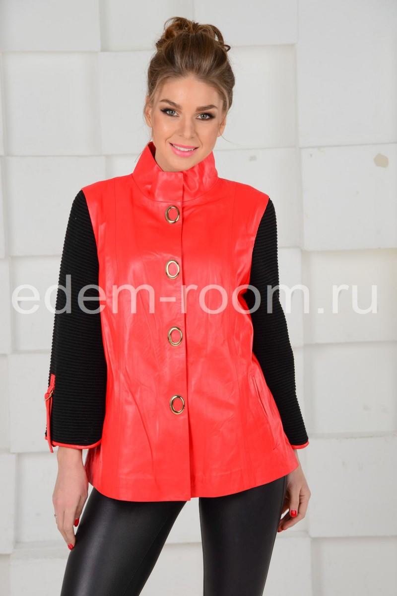 Красная кожаная куртка
