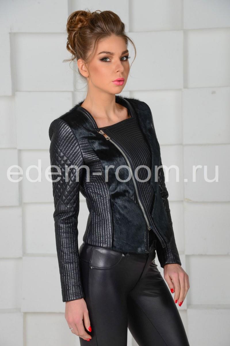 Молодёжная кожаная куртка - косуха