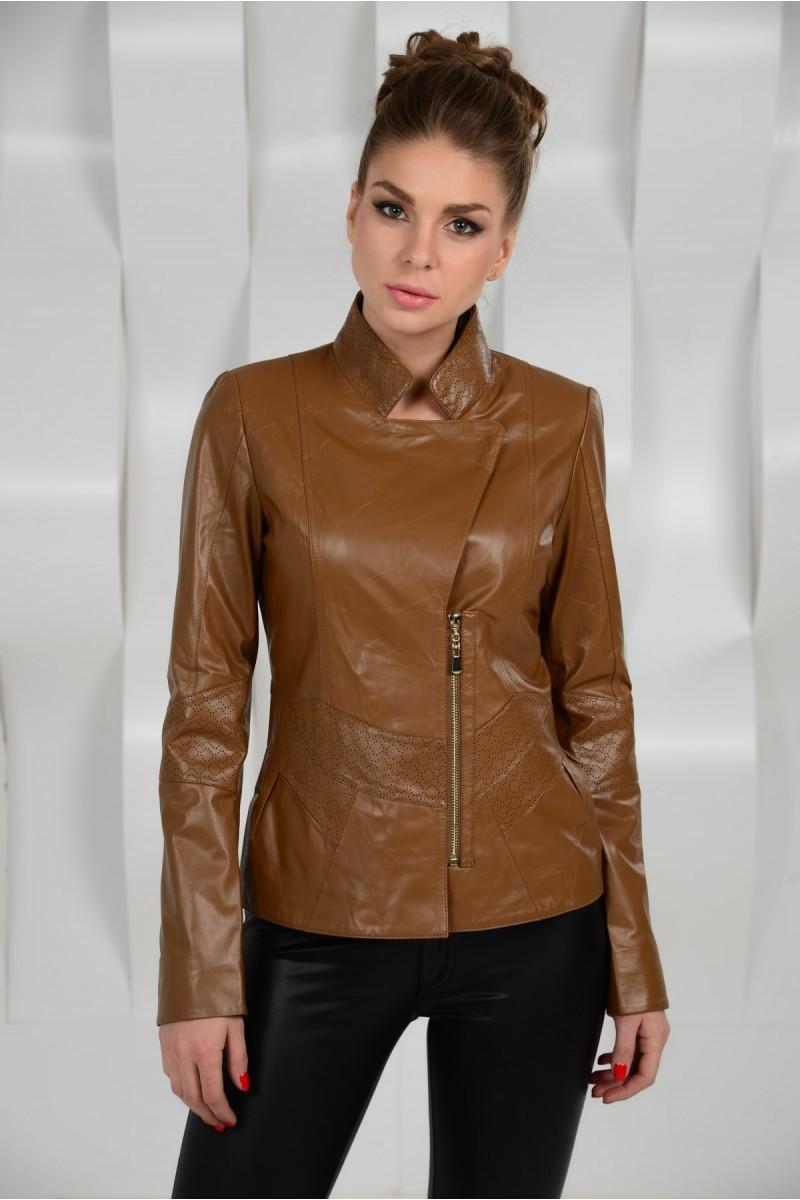 Коричневая женская  куртка