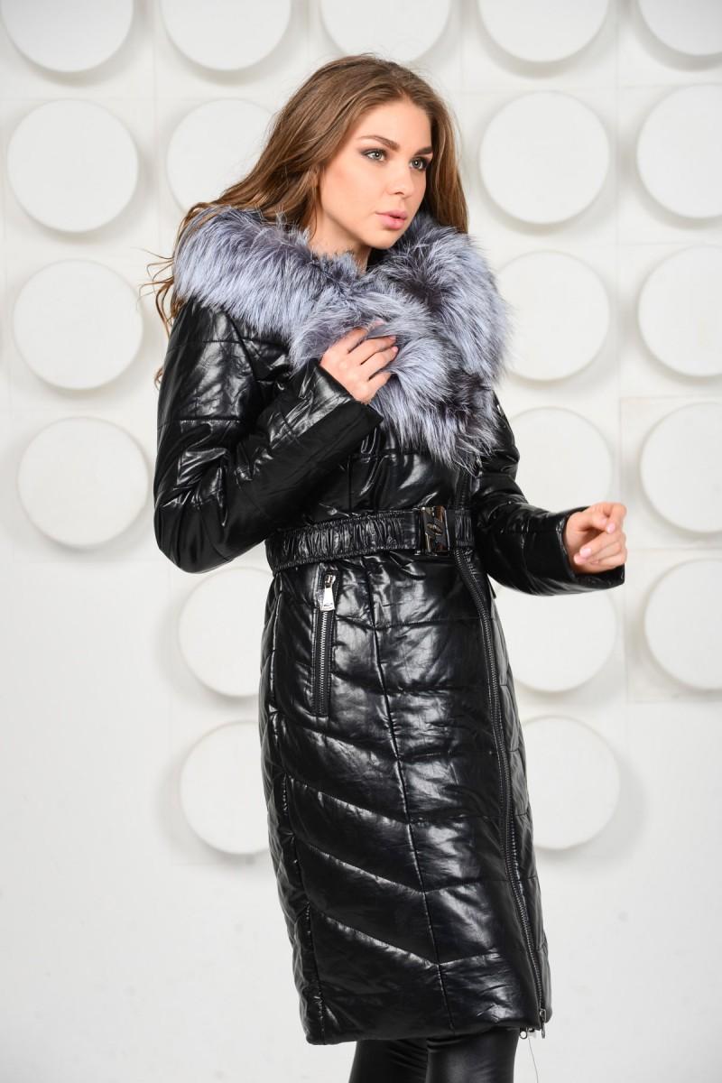 Зимнее эко-пальто