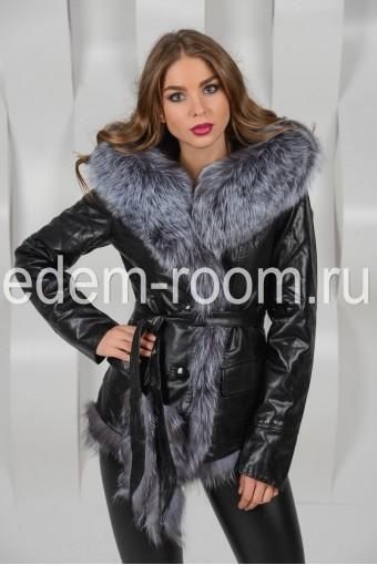 Куртка из эко-кожи для зимы