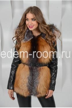 Куртка - жилетка из лисы