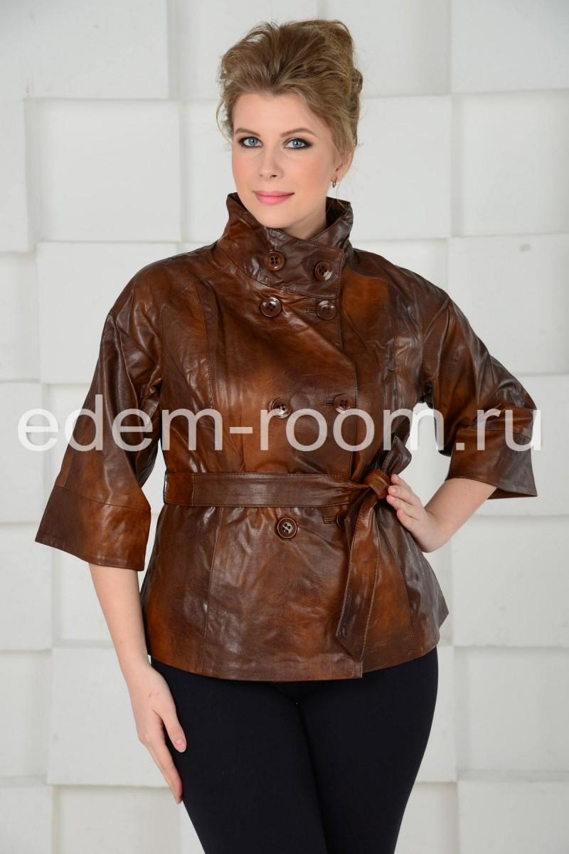 Куртка из эко-кожи для больших размеров