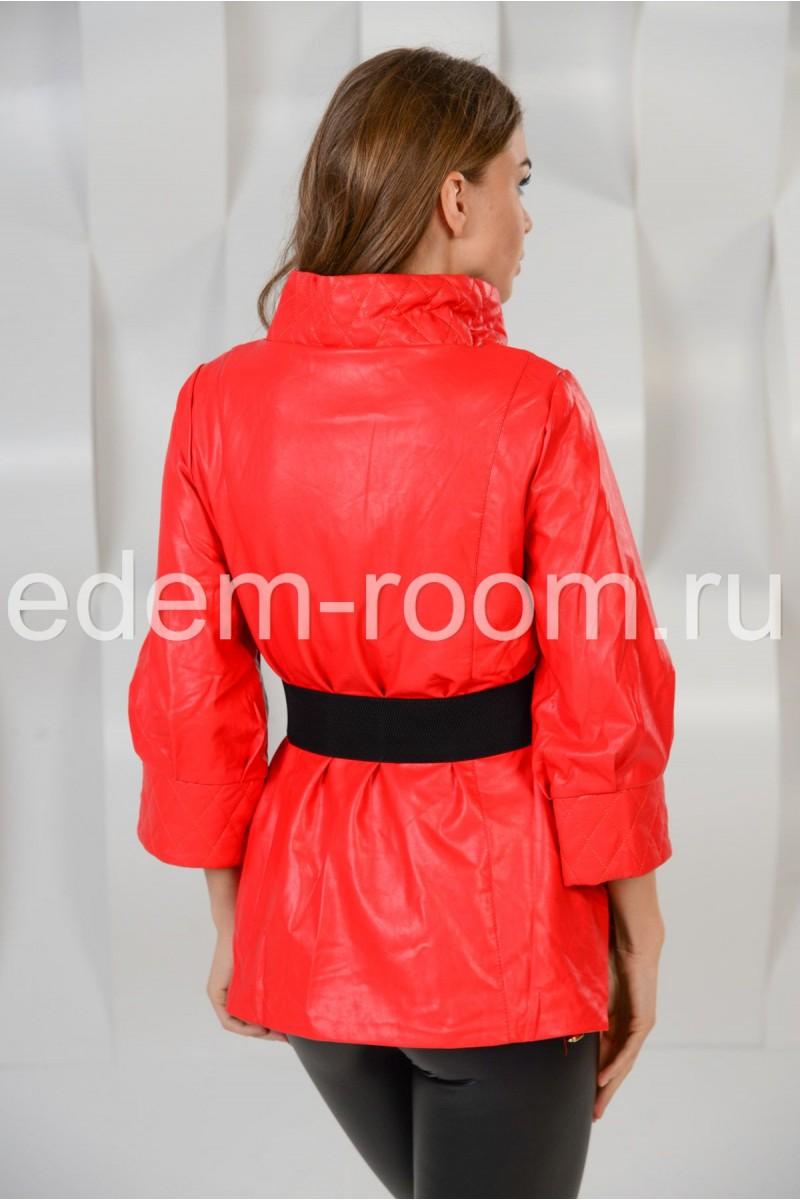 Удлинённая куртка на поясе