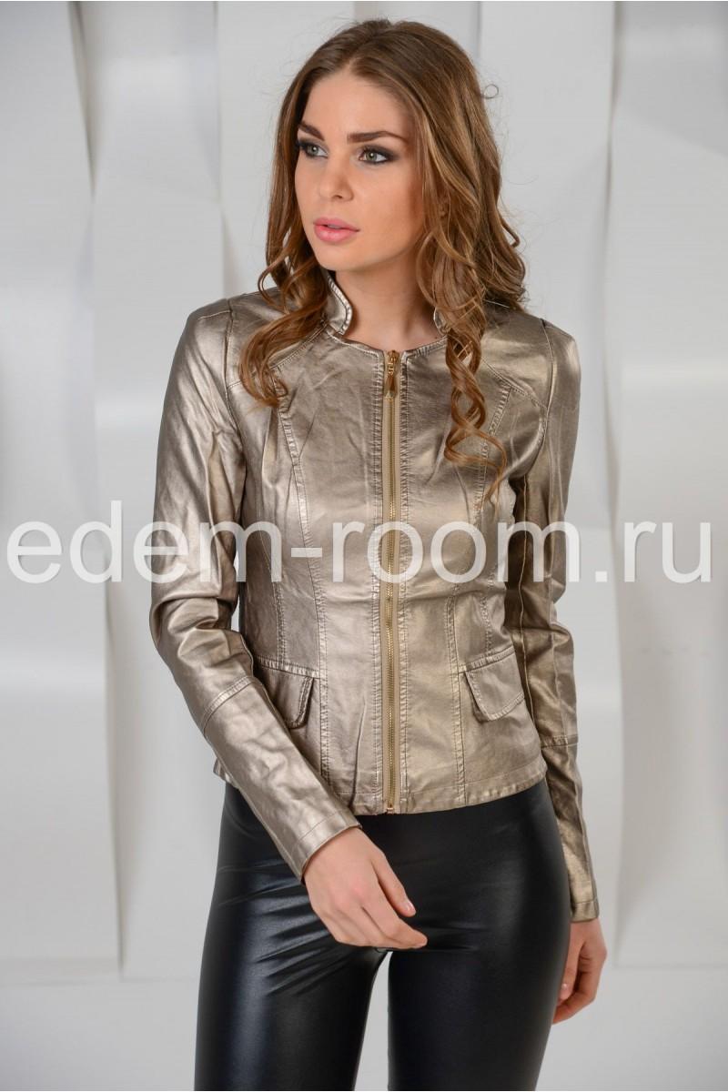 Стильная куртка из эко-кожи
