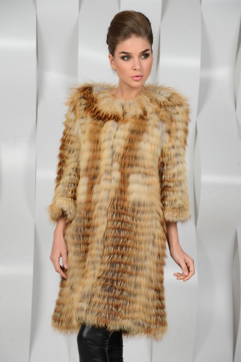 Пальто из лисы