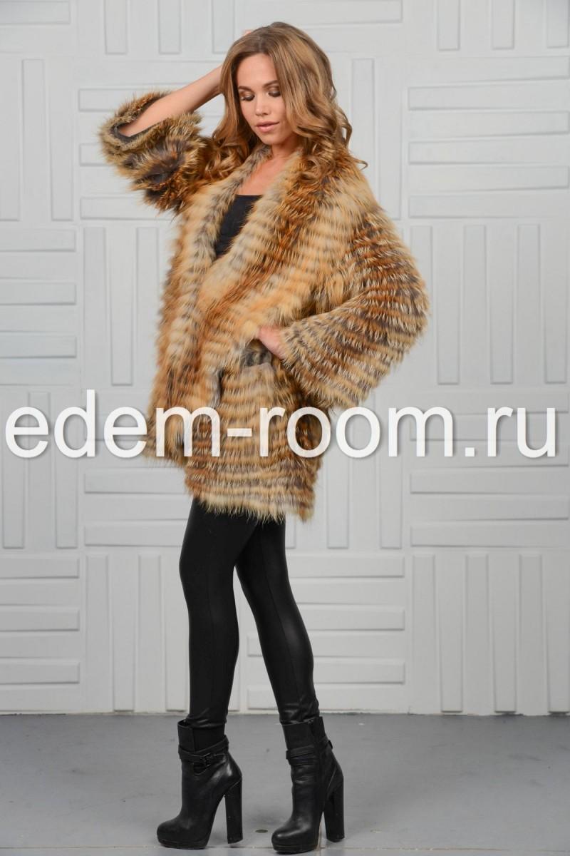 Пальто из меха лисы