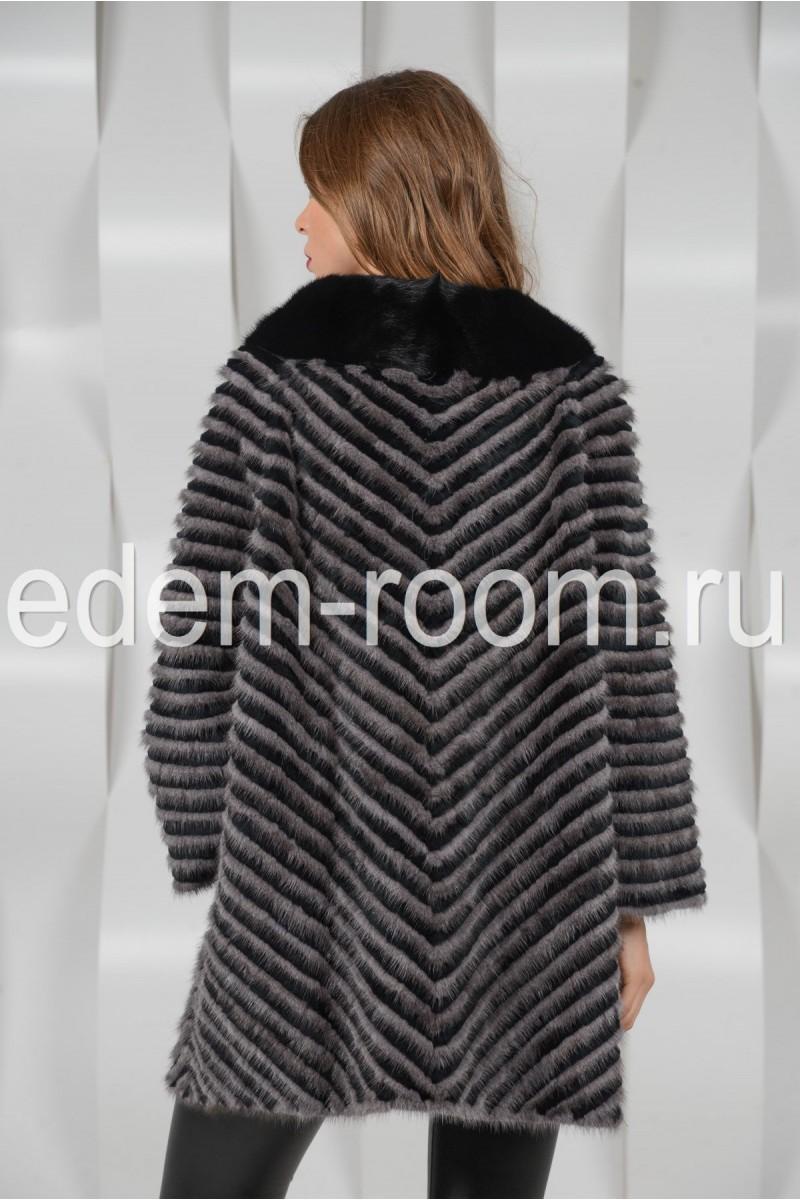 Меховое пальто из норки