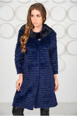 Модное пальто из меха норки