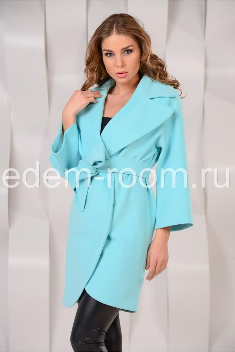 Бирюзовое пальто -2015