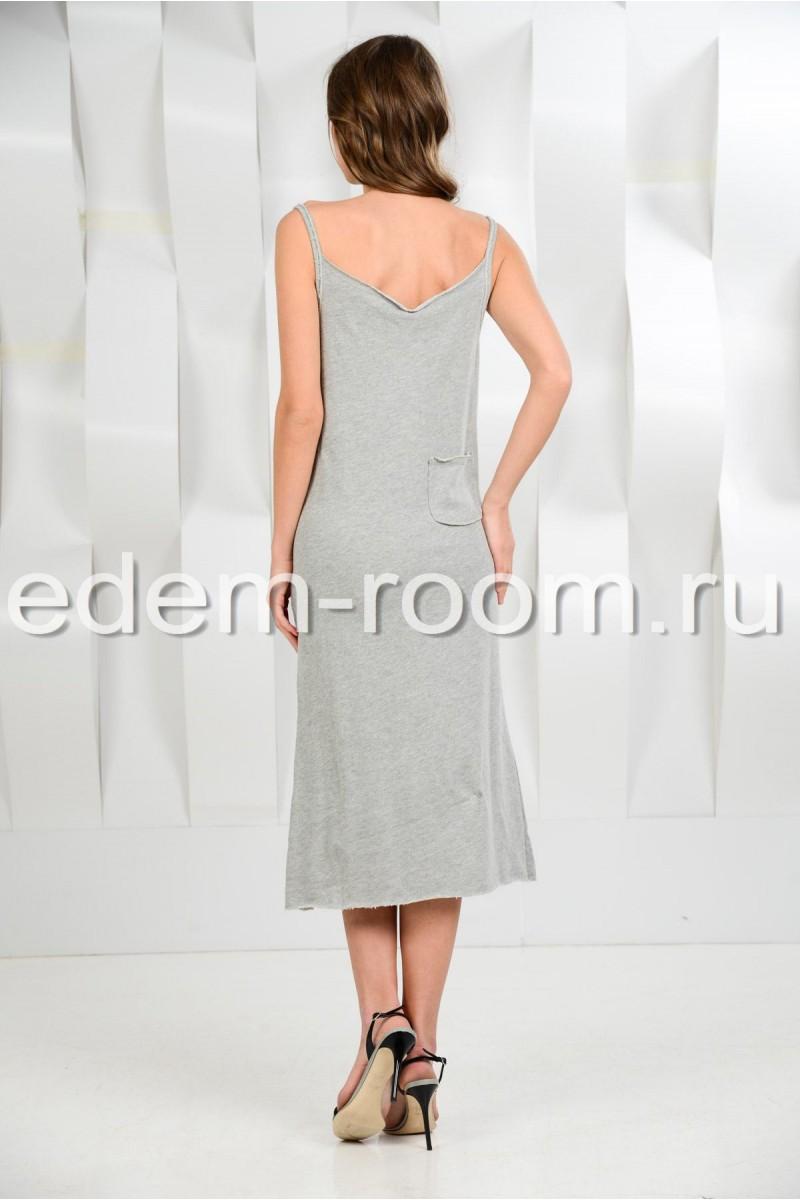Пляжное трикотажное платье