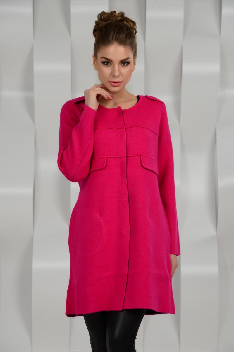Модное пальто - цвета фукси