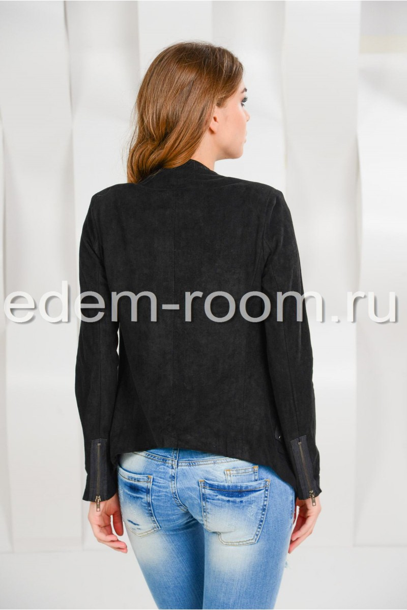 Чёрная куртка для весны и осени