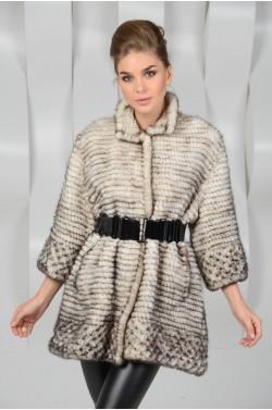 Меховая куртка из вязаной норки