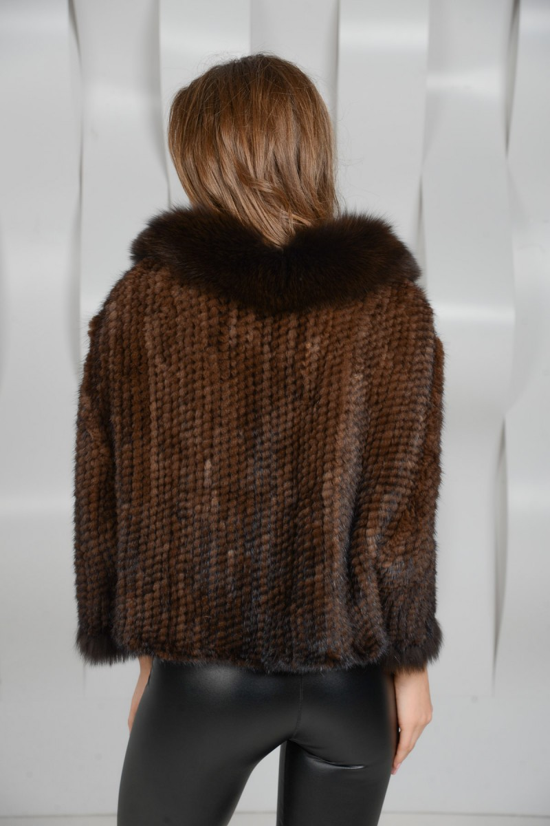 Клубная куртка из норковой вязки