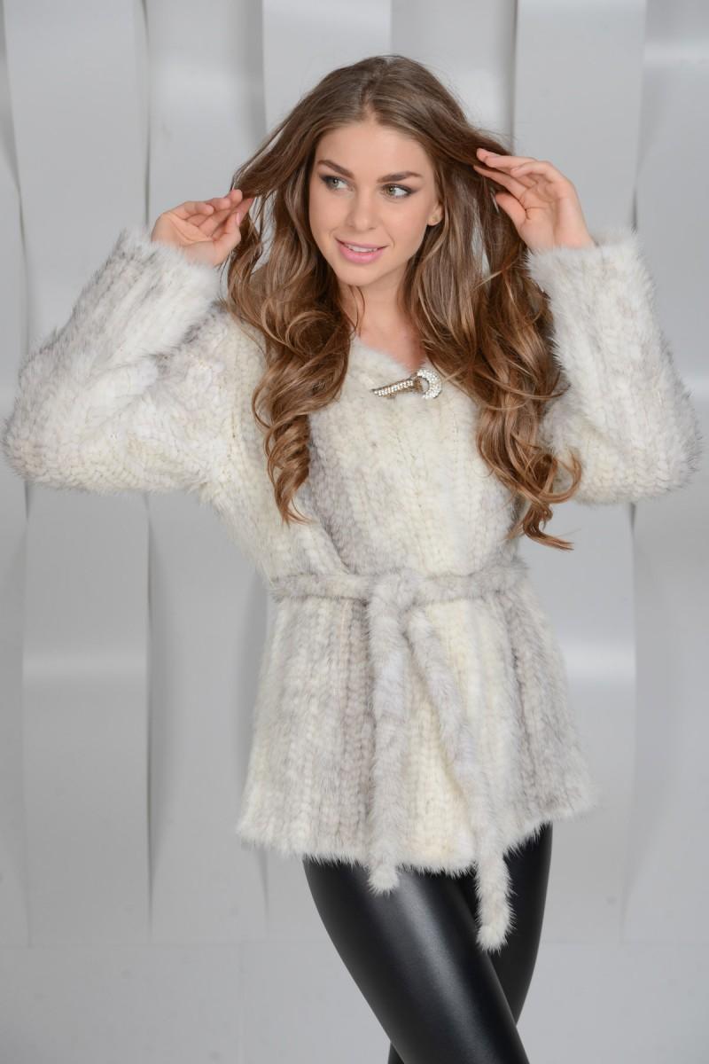 Куртка из норковой вязки
