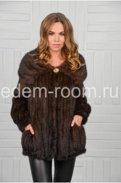 Куртка из вязаной норки на большие размеры