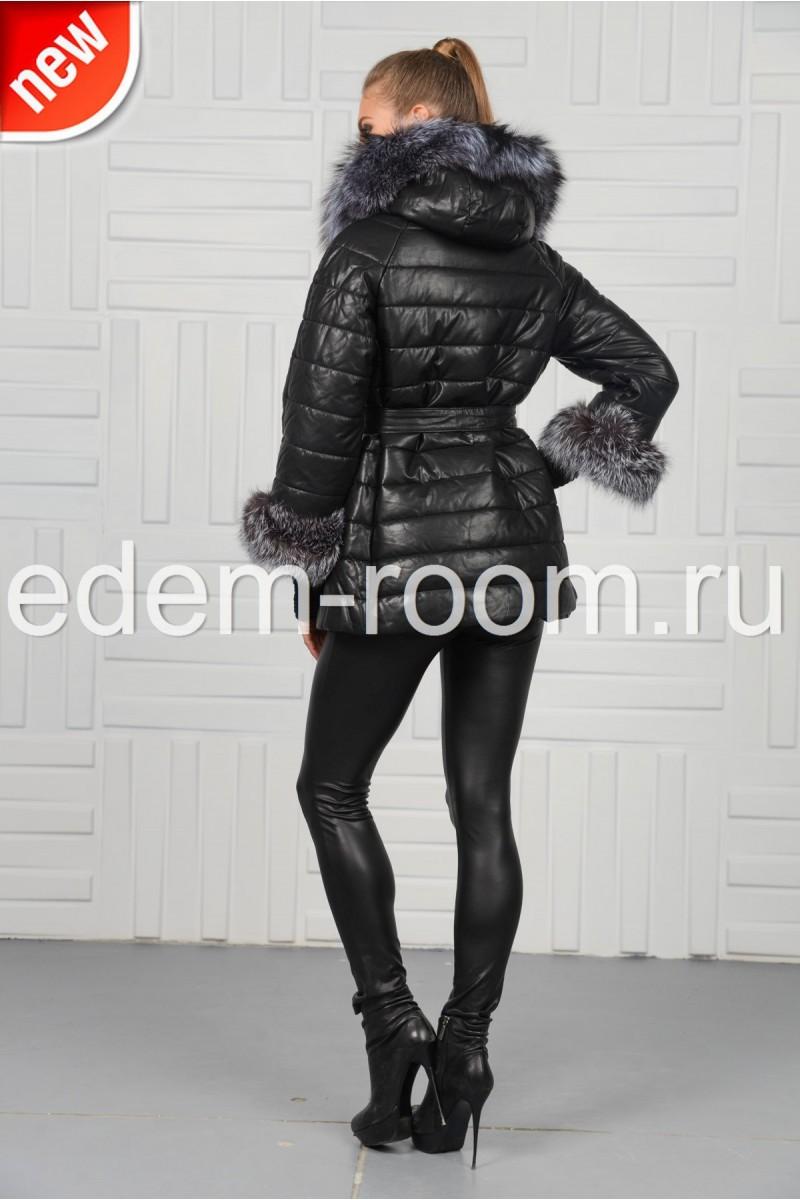 Стильная куртка из экокожи