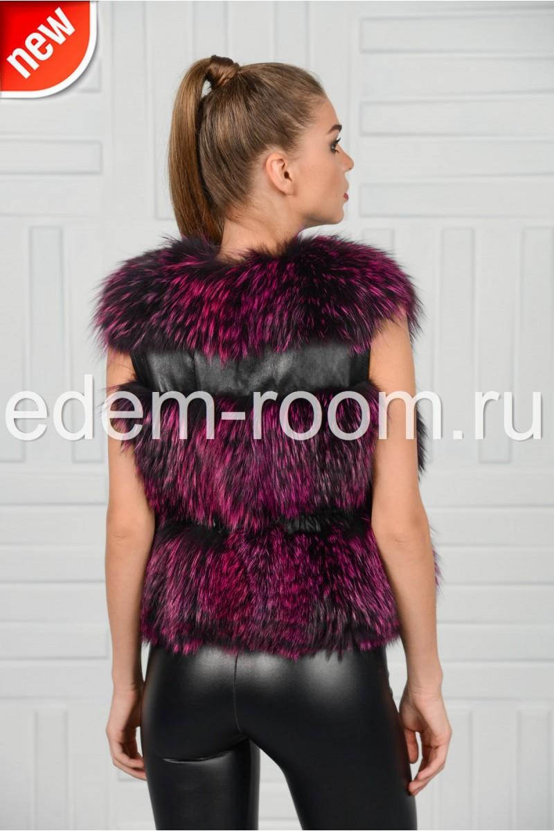 Модная жилетка из чернобурки