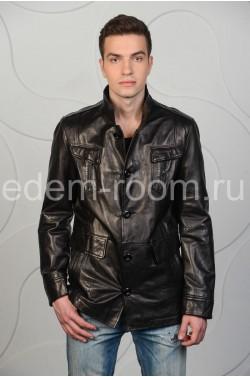 Удлинённая кожаная куртка
