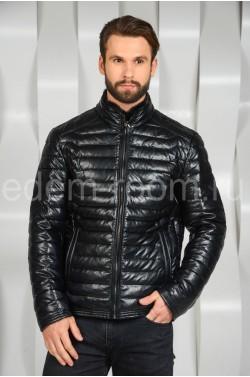 Тёплая куртка из эко-кожи
