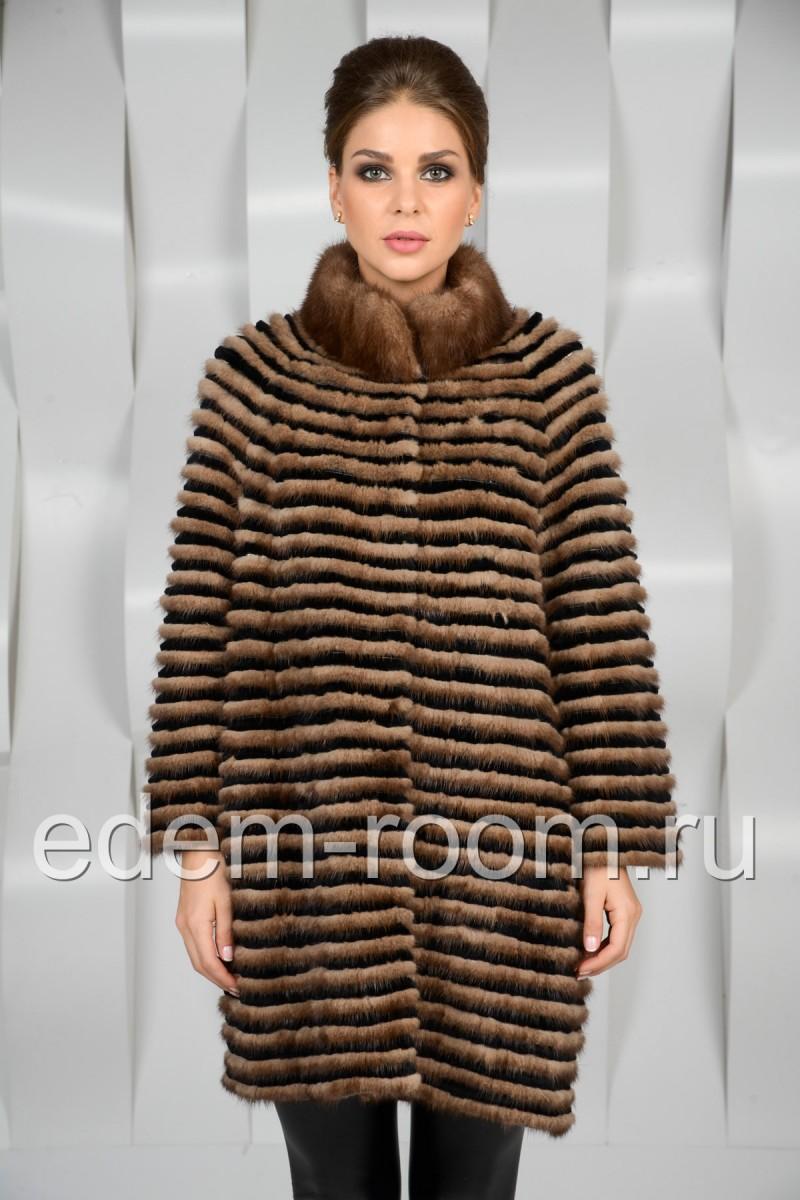 Норковое пальто - нарезка