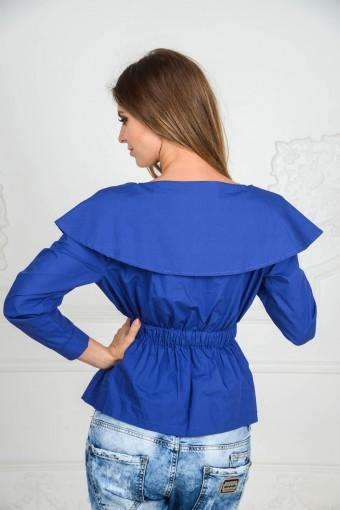 Синяя блузка из хлопка
