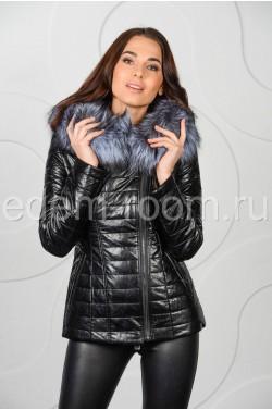Куртка из эко-кожи на межсезонье