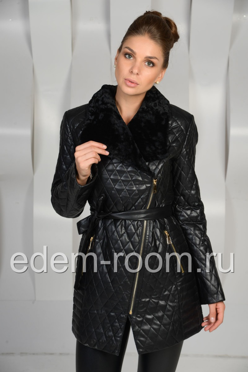 Демисезонная куртка из экокожи